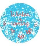 Vektorillustration av vintertid Royaltyfri Fotografi