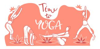 Vektorillustration av yoga vektor illustrationer