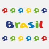 Vektorillustration Brasilien 2014 Arkivbild