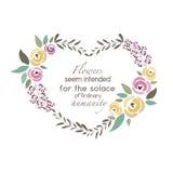 Vektorillustration der Blumenkranzschablone Lizenzfreie Stockfotos