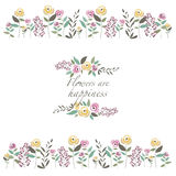 Vektorillustration der Blumenschablone Lizenzfreies Stockfoto