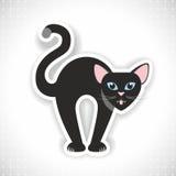 Vektorillustration der borstigen schwarzen Katze Lizenzfreies Stockfoto