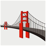 Vektorillustration der Brücke Lizenzfreie Stockfotos