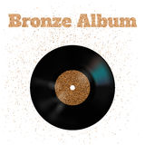 Vektorillustration der Bronzemetallvinylscheibe Stockfotos
