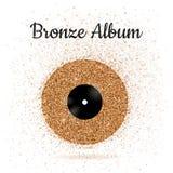 Vektorillustration der Bronzemetallvinylscheibe Lizenzfreie Stockfotografie