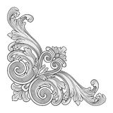 Dekorationsrahmenecke Lizenzfreie Stockbilder