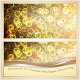Vektorillustration der Eleganzgrußkarte mit Lizenzfreies Stockfoto
