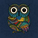 Vektorillustration der Eule Vogel herein veranschaulicht Stockfoto