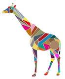 Vektorillustration der Giraffe auf weißem Hintergrund Lizenzfreie Stockbilder