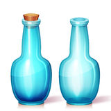 Vektorillustration der Glasflasche Lizenzfreie Stockbilder