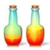 Vektorillustration der Glasflasche Stockfotos