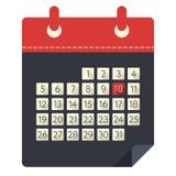 Vektorillustration der Kalenderikone lizenzfreie abbildung