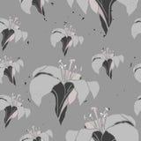 Vektorillustration der Lilie blüht nahtloses Muster lizenzfreie stockfotografie