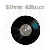 Vektorillustration der Metallvinylscheibe: Silber Stockbilder