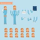 Vektorillustration der netten Krankenschwester Lizenzfreie Stockfotografie