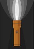 Vektorillustration der orange Taschenlampe Stockfotos
