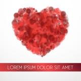 Vektorillustration der roten Blutkörperchen Lizenzfreies Stockfoto