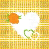 Vektorillustration der schönen Herzikone. Karte  Stockfotos