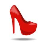 Vektorillustration der Schuhe der Frauen Stockbilder
