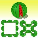 Vektorillustration der Wassermelone Stockfoto