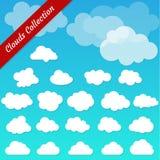 Vektorillustration der Wolkensammlung Lizenzfreie Stockbilder
