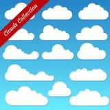 Vektorillustration der Wolkensammlung Stockbilder