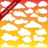 Vektorillustration der Wolkensammlung Stockfoto