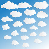 Vektorillustration der Wolkensammlung Lizenzfreie Stockfotografie