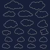 Vektorillustration der Wolkensammlung Stockfotografie