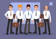 Vektorillustration des Büropersonals Stockbild