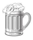 Vektorillustration des Bieres Lizenzfreies Stockfoto