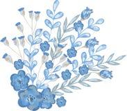 Vektorillustration des blauen Blumenstraußes Lizenzfreie Stockfotos
