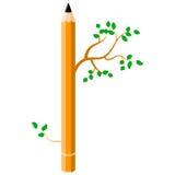 Vektorillustration des Bleistifts auf weißem Hintergrund Stockbilder
