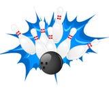 BowlingspielPin Lizenzfreies Stockfoto