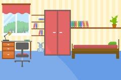 Vektorillustration des bunten Kinderraumes Stockfotos