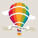 Vektorillustration des bunten Luftballons Stockfotos