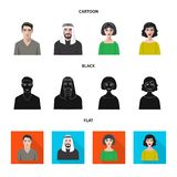 Vektorillustration des Frisur- und Beruflogos Stellen Sie von der Frisur- und Charaktervorratvektorillustration ein vektor abbildung