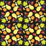 Vektorillustration des Frucht- und Beerenmusters Lizenzfreies Stockbild