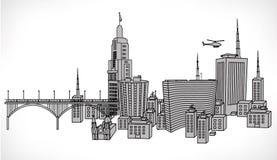 Vektorillustration des Gebäudes von Sao-Paulo Stockbild