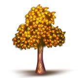 Vektorillustration des gelben Baums Lizenzfreie Stockbilder