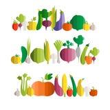 Vektorillustration des Gemüses Stockbild