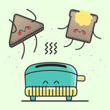 Vektorillustration des glücklichen Toasts vektor abbildung