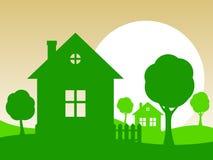 Vektorillustration des Hauses stockbilder