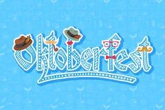Vektorillustration des Hippie Oktoberfest-Elementsatzes lizenzfreie abbildung