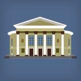 Vektorillustration des historischen Gebäudes der Weinlese Lizenzfreies Stockbild