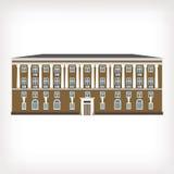 Vektorillustration des historischen Gebäudes der Weinlese Lizenzfreie Stockfotos
