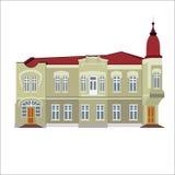 Vektorillustration des historischen Gebäudes der Weinlese Lizenzfreies Stockfoto