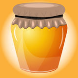 Vektorillustration des Honigs auf orange Hintergrund Lizenzfreie Stockfotos