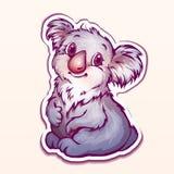 Vektorillustration des Koala in der Karikaturart Stockfoto