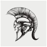 Vektorillustration des Kriegers spartanisch lizenzfreie stockfotografie